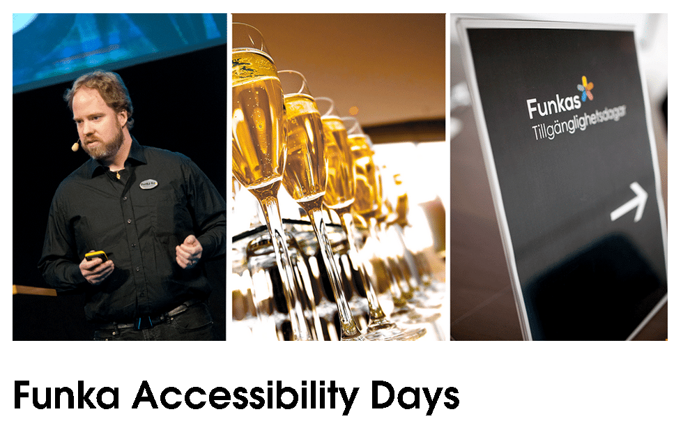 Interaccess have been invted to speak at the upcoming Funka Accessibility days gig in Stockholm.